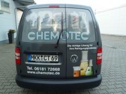 Chemotec-Lieferfahrzeug Heck