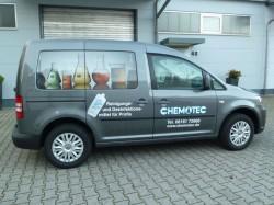 Chemotec-Lieferfahrzeug Seite